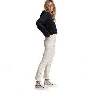 Rag & Bone Simone Pinstripe Snap-Cuff Pants
